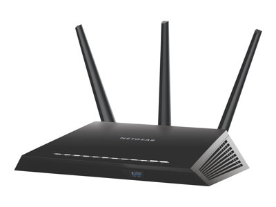 NETGEAR Nighthawk R7000 Wireless router 4-port switch GigE 802.11a/b/g/n/ac Dua