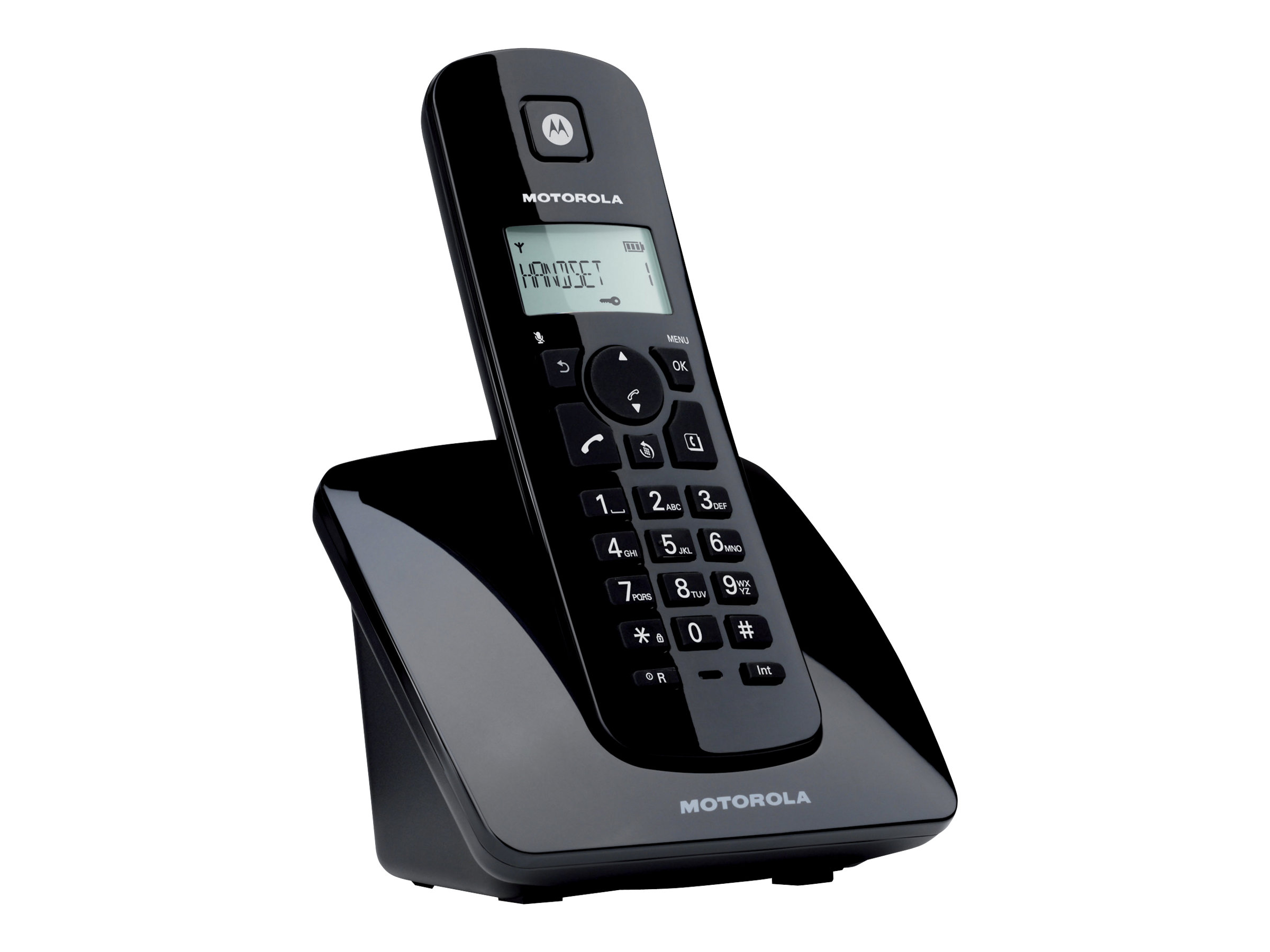 motorola c401 t l phone sans fil avec id d 39 appelant t l phonie fixe. Black Bedroom Furniture Sets. Home Design Ideas
