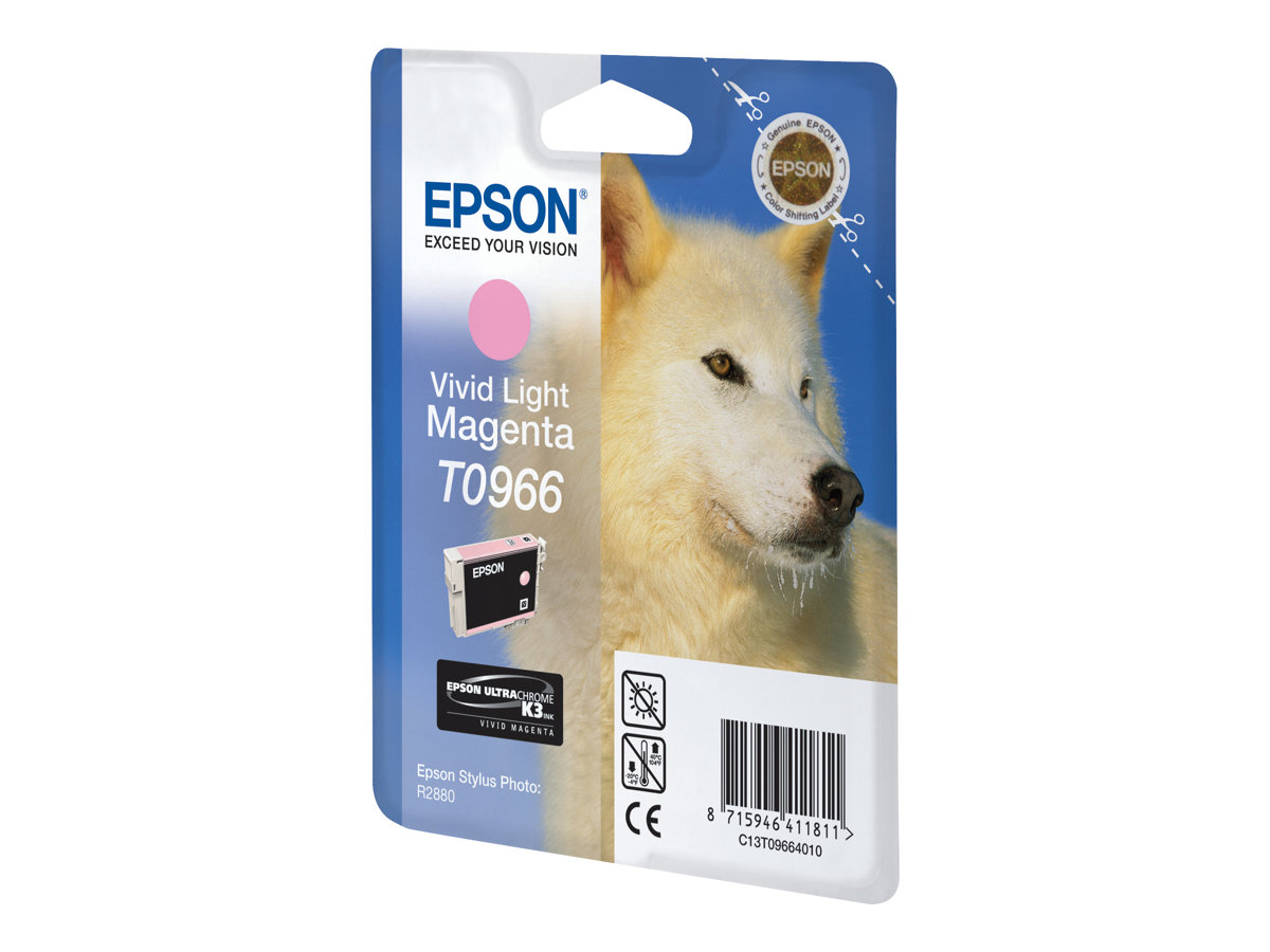 Epson T0966 - vivid light magenta - original - ink cartridge