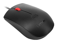 Lenovo - Mouse - optical - 3 buttons - wired - USB - black - for ThinkCentre M72X; M75; M90n-1 IoT; M920; ThinkPad 11e Yoga (6th Gen); E14; E15; L13; V15
