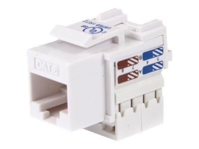 StarTech.com Cat6 Cable - Cat6 Keystone Jack - 110 Type Universal - White - Ethernet Network Cable (C6KEY110WH)