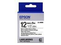 Epson LabelWorks LK-4WBW Strong adhesive black on white