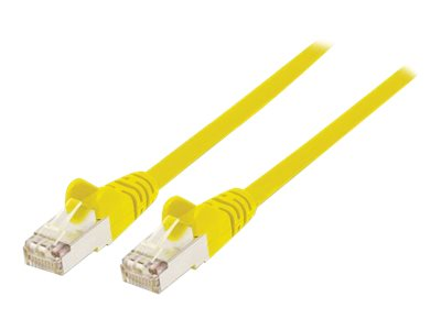 Intellinet Network Patch Cable, Cat6A, 2m, Yellow, Copper, S/FTP, LSOH / LSZH, PVC, RJ45, Gold Plated Contacts, Snagless, Booted, Polybag - Patch-Kabel (DTE) - RJ-45 (M) bis RJ-45 (M) - 2 m - SFTP, PiMF - CAT 6a