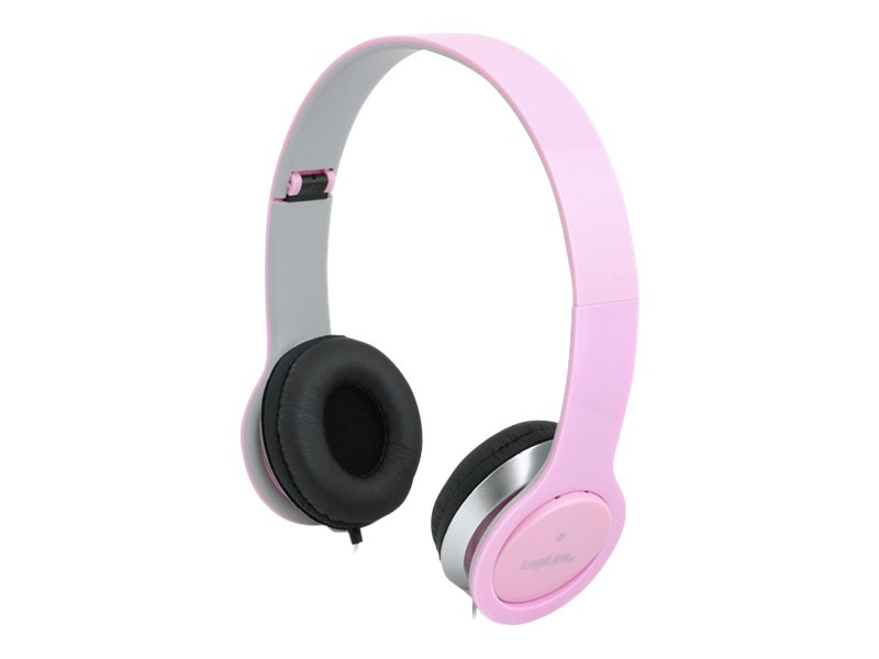 LogiLink Stereo High Quality Headset - Headset - Full-Size - pink