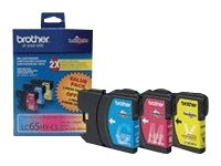 Brother LC-65HY-CL - High Yield - yellow, cyan, magenta - original - ink cartridge