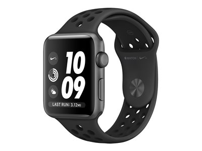 Apple Watch Nike+ Series 2 - space gray aluminum - smartklokke med Nike-sportsmerke antrasitt/svart