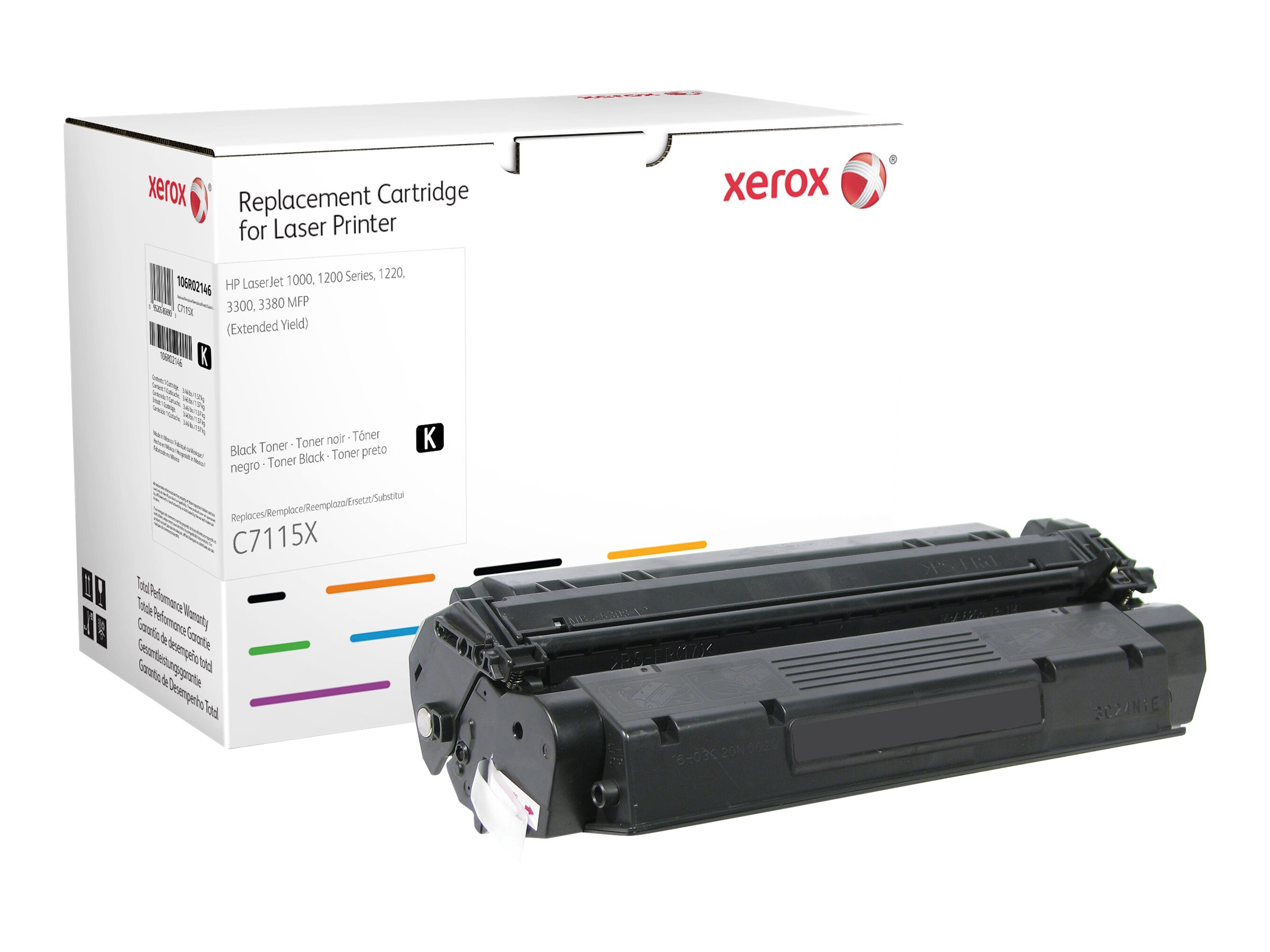 Xerox - black - toner cartridge (alternative for: HP C7115X)