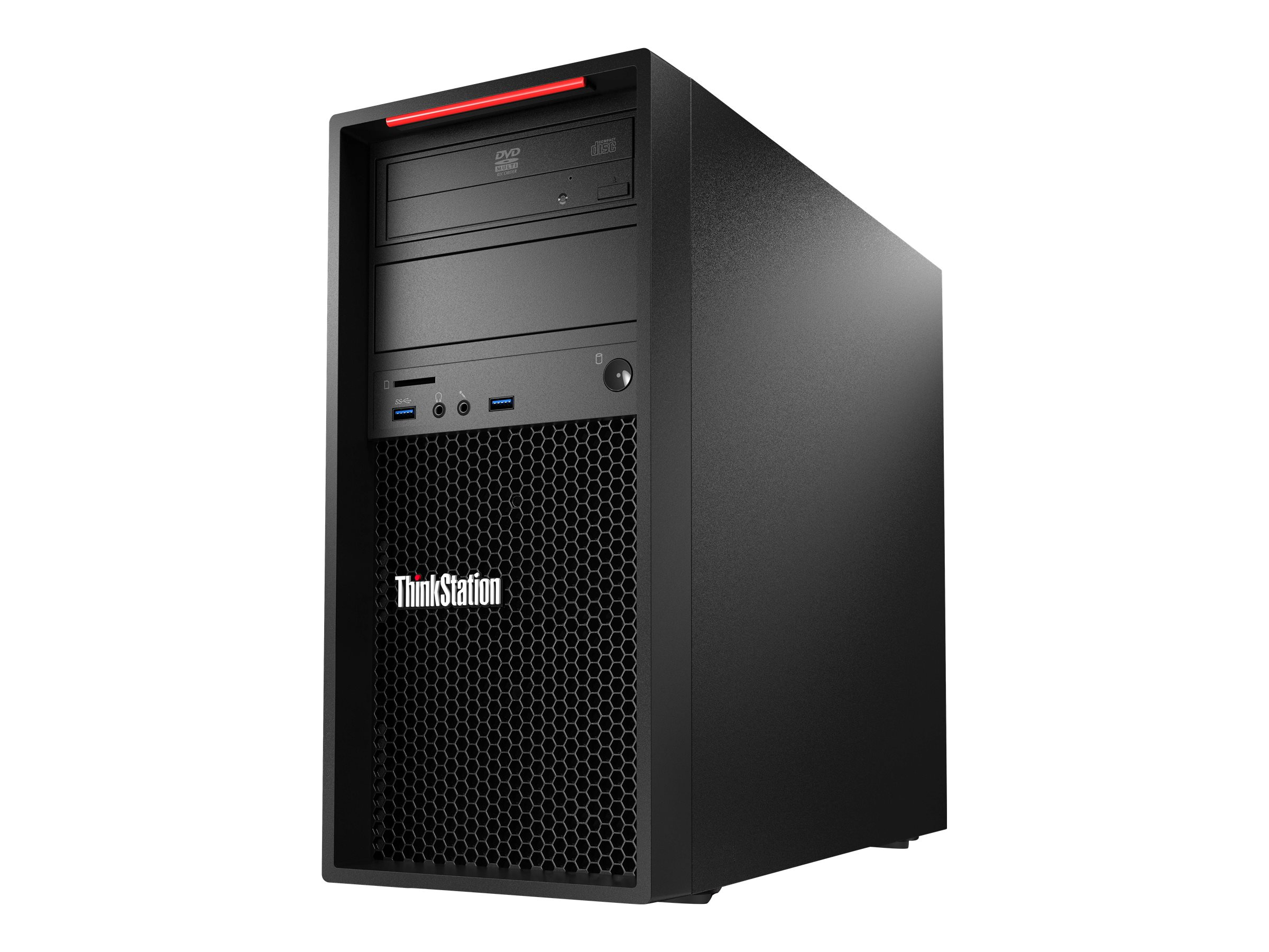 Lenovo ThinkStation P310, 64-bit, Festplatte, Intel Xeon E3 v5, DVD±RW, Schwarz, Intel HD Graphics P530