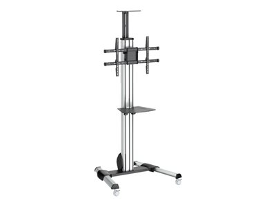 StarTech.com Heavy Duty Rolling Portable TV Cart Stand with Wheels 32 to 75 inch