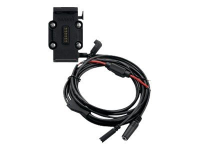 Motorcycle mount with integrated power cable