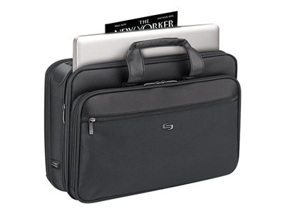 SOLO Classic Smart Strap Laptop Portfolio SGB300-4 Notebook carrying case 16INCH black