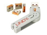 Lindy USB Port Blocker - USB port blocker (pack of 4)