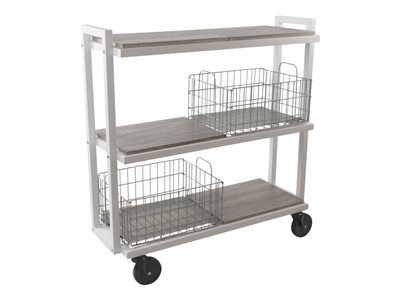 ürb SPACE Trolley 3 shelves 3 tiers powder-coated steel white