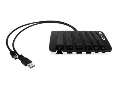 Club3D SenseVision Y-Cabled Docking Station Docking station USB 2 x Mini DP GigE