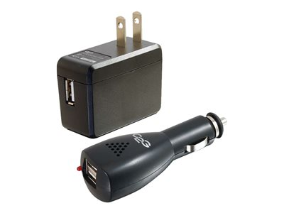 C2g Usb Car Charger And Wall Kit Ac Adapter Dc