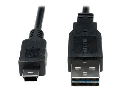6 USB 2.0 Right Angle Universal Reversible Cable A Male to B Male