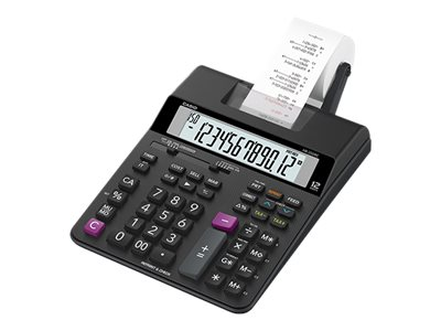 Casio HR-200RC Printing calculator LCD 12 digits battery
