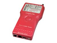 LogiLink 5 in 1 Cable Tester - Network tester kit
