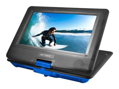 Ematic EPD116 DVD player portable display: 10INCH blue