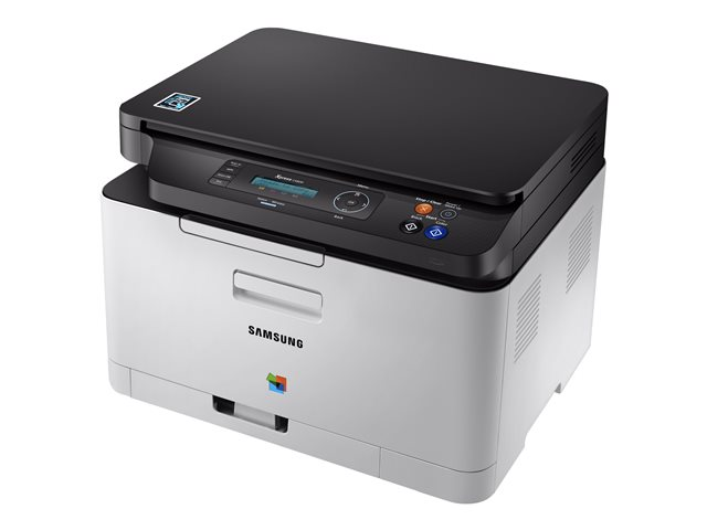Samsung Xpress SL-C480W - Imprimante multifonctions - couleur - laser - 216 x 297 mm (original) - A4/Legal (support) - jusqu'à 18 ppm (copie) - jusqu'à 18 ppm (impression) - 150 feuilles - USB 2.0, LAN, Wi-Fi(n), hôte USB, NFC