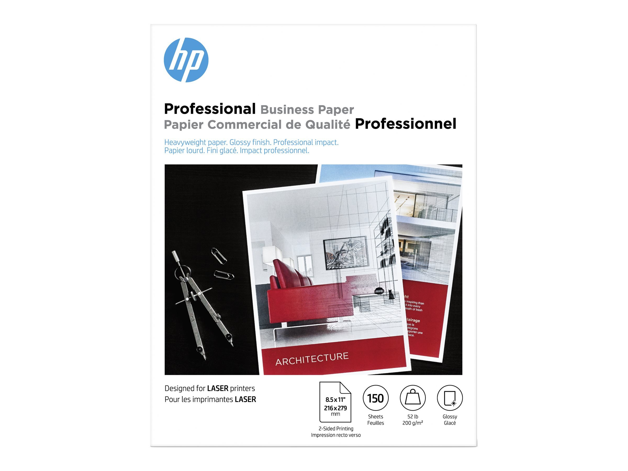 HP Professional Brochure and Flyer - brochure paper - 150 sheet(s) - Letter - 200 g/m²