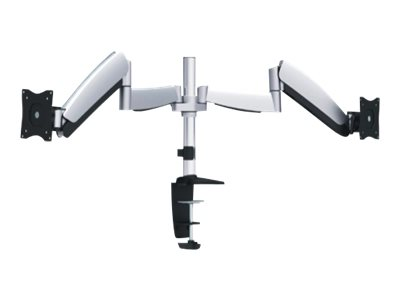Ergotech 320 Monitor Arm Dual Mounting kit for 2 LCD displays aluminum silver