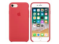 Apple - Back cover for mobile phone - silicone - raspberry red - for iPhone 7, 8