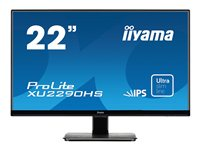 "Iiyama ProLite XU2290HS-1 - Écran LED - 22"" (22"" visualisable) - 1920 x 1080 Full HD (1080p) - IPS - 250 cd/m² - 1000:1 - 4 ms - HDMI, DVI-D, VGA - haut-parleurs - noir"