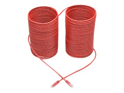 Tripp Lite Premium Cat5/Cat5e/Cat6 Gigabit Molded Patch Cable, 24 AWG, 550 MHz/1 Gbps (RJ45 M/M), Red, 100 ft. - patch …