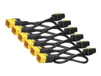 APC Power cable IEC 60320 C19 to IEC 60320 C20 16 A 2 ft latched black (pack of 6)