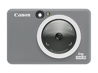 Canon ivy CLIQ2 Digital camera compact with photo printer 5.0 MP charcoal