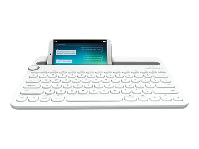 Logitech Multi-Device K480 - Tastatur - Bluetooth - Deutsch - weiß