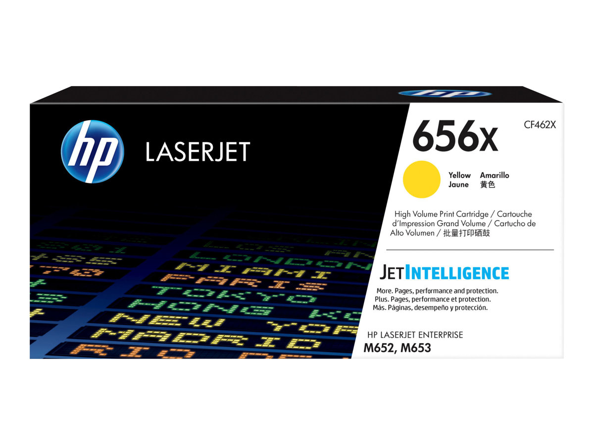HP 656X - High Yield - yellow - original - LaserJet - toner cartridge (CF462X)
