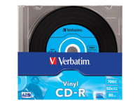 Verbatim Data Vinyl - 10 x CD-R - 700 Mo 52x - boîtier CD étroit