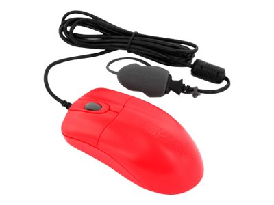 Seal Shield Silver Storm Mouse optical 3 buttons wired USB red