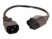 C2G 2ft 16 AWG Monitor Power Adapter Cord (IEC320C14 to NEMA 5-15R) TAA Power cable