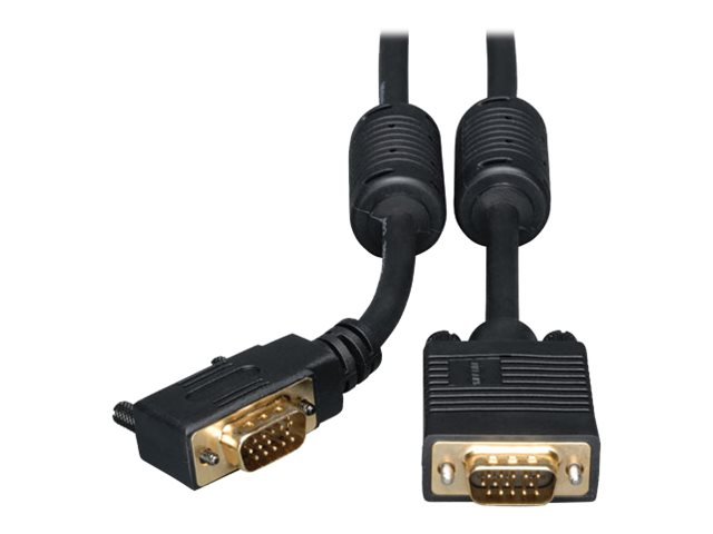 Tripp Lite 3ft VGA Coax Monitor Cable with RGB High Resolution Right Angle HD15 M/M 3' - VGA cable - 91 cm