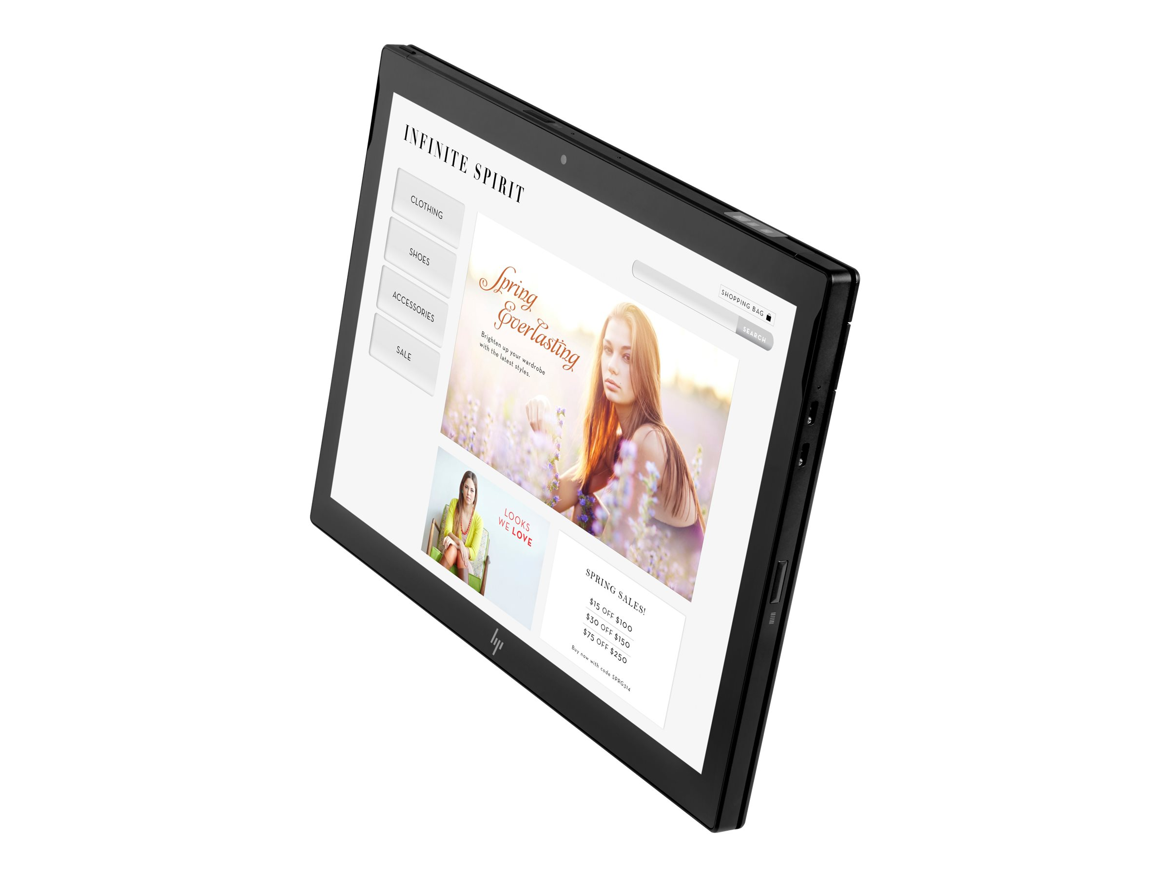 HP Engage Go Mobile - Tablet - Core m3 7Y30 / 1 GHz - Win 10 Pro 64-Bit - 4 GB RAM - 128 GB SSD TLC