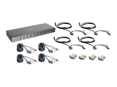 IOGEAR MiniView Pro GCS1208KIT2 8-Port Dual Link DVI KVMP Switch with Cable and Adapter Set