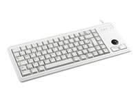 CHERRY Compact-Keyboard G84-4400 - Clavier - USB - anglais - gris clair