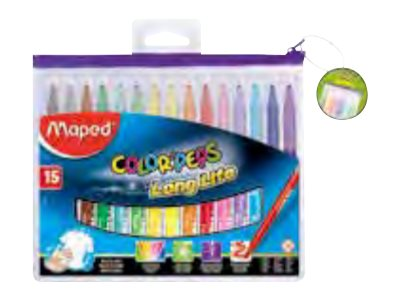 Maped Color'Peps Long Life - 15 Marqueurs - couleurs assorties - 3.6 mm