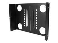 StarTech.com Universal Swivel VESA LCD Mounting Bracket for 19in Home Server Rack or Cabinet (RKLCDBKT) - konsol
