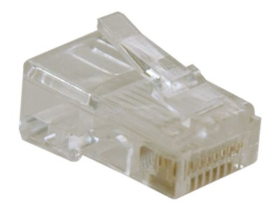 Tripp Lite RJ45 for Solid / Standard Conductor 4-Pair Cat5e Cat5 Cable 10 Pack - network connector
