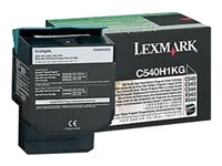 C540H1KG, C54x, X54x Black High Yield Return Programme Toner, 2.