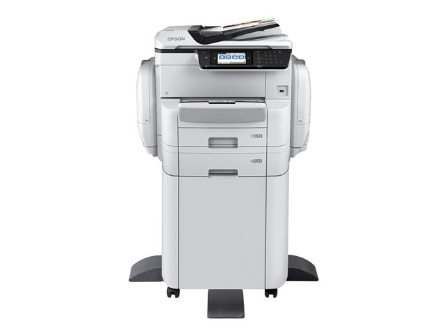 Epson WorkForce Pro WF-C869RDTWFC - Imprimante multifonctions - couleur - jet d'encre - A3 (297 x 420 mm) (original) - A3 (support) - jusqu'à 22 ppm (copie) - jusqu'à 35 ppm (impression) - 835 feuilles - 33.6 Kbits/s - Gigabit LAN, Wi-Fi(n), USB 3.0, hôte USB 2.0