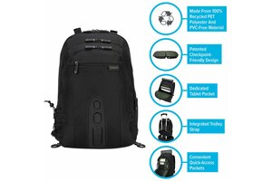 """15.6"""" Spruce<sup>™</sup> EcoSmart<sup>®</sup> Checkpoint-Friendly Backpack"""