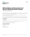HPE Installation and Startup Service for VMware vRealize Operations Manager (English)