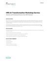 HPE AI Transformation Workshop Service (English)