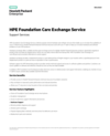 HPE Foundation Care Exchange Service data sheet - US English (English)