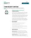 NA GSD Cyber Security Services, data sheet (English)